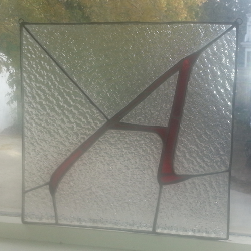 Atheist A in stained glass
