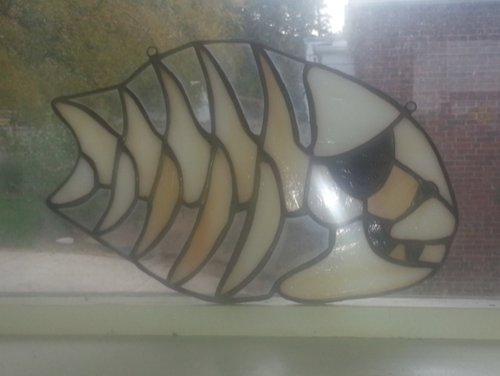 Pirate Fish in stained glass