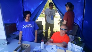 Christina, Michael, Scott and Mandi tabling
