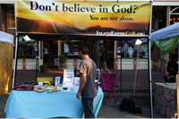 Ask-an-atheist booth