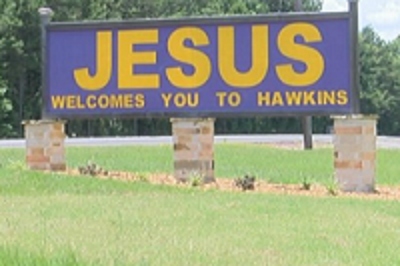 Hawkins, TX Sign