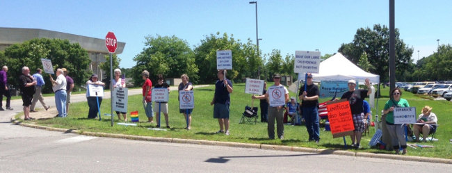 iowa atheist protest