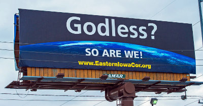 Iowa atheists billboard