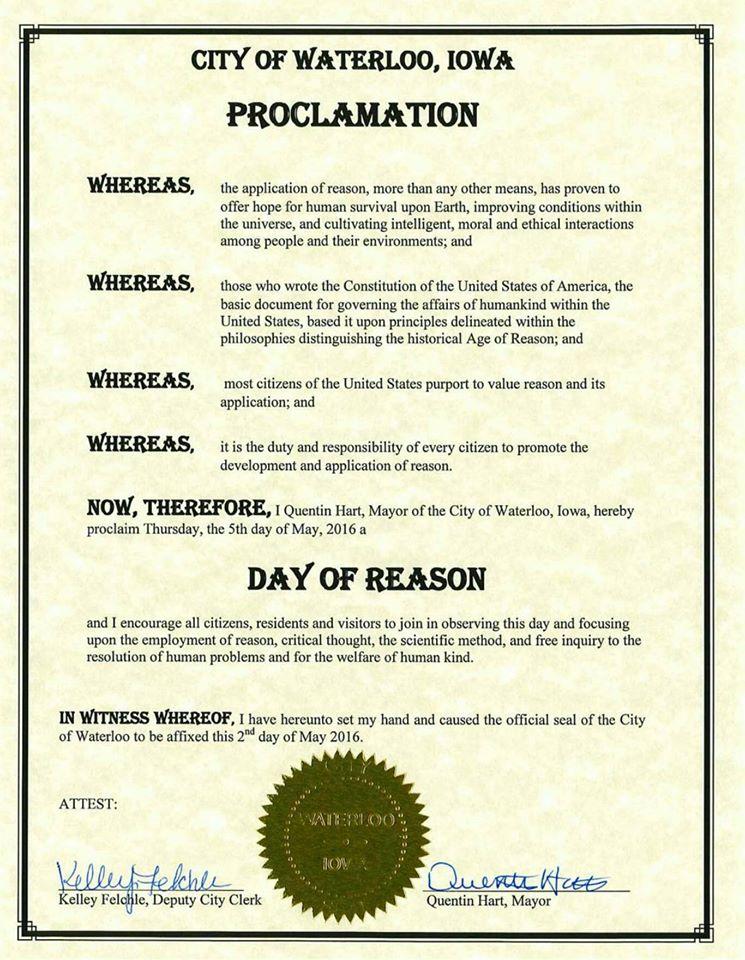 waterloo proclamation