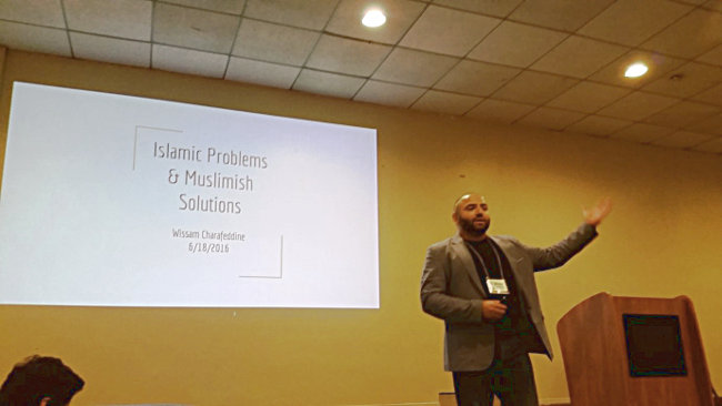 "Wissam Charafeddine, speaking on ""Islam Problems and Muslimish Solutions"""