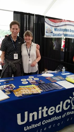 Steve Rade, UnitedCoR's Founder and Chair of the Board, with Susan at the UnitedCoR table.