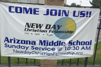 Church and School Banner