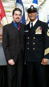 Jase with Chief Petty Officer Doug Wright