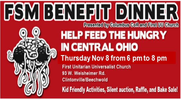 """drawing of FSM, """"Help Feed the Hungry in Central Ohio"""""""