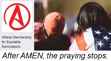 Slogan: After AMEN, the praying stops.