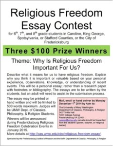 Freedom Essay Contest 2015